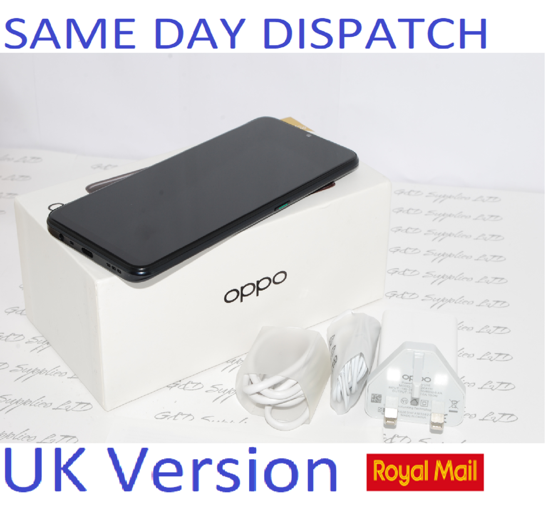 "Oppo A5 2020 Mirror Black 6.5"" 64GB 4G Dual SIM Unlocked  CPH193 Unlocked UK version #"