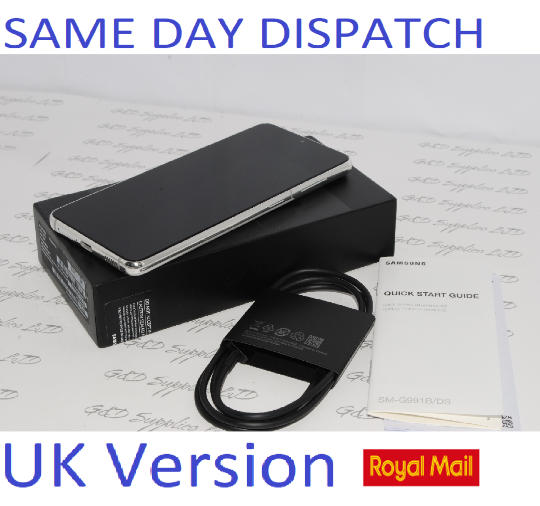 SAMSUNG S21 5G SM-G991B/DS 128GB White unlocked Dual Sim UK Version
