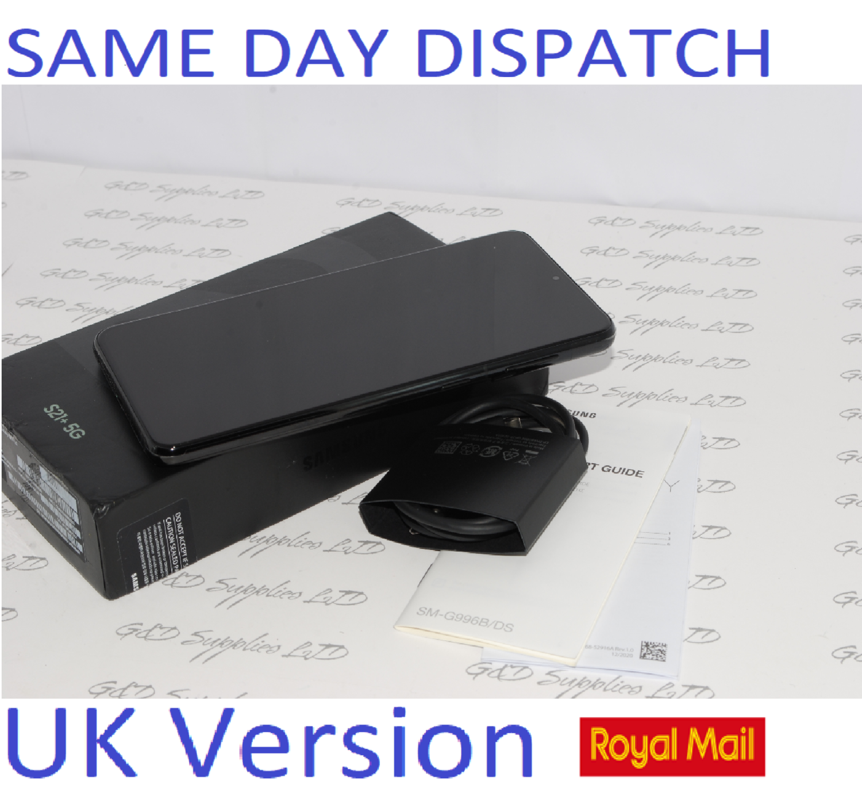 Samsung Galaxy S21 + Plus 5G 256GB Phantom Black SM-G996B  UK Version