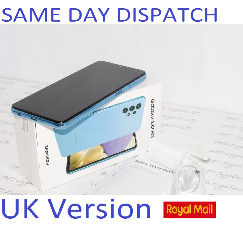 Samsung Galaxy A32 5G 64GB Dual SIM Smartphone BLUE unlocked UK Version #
