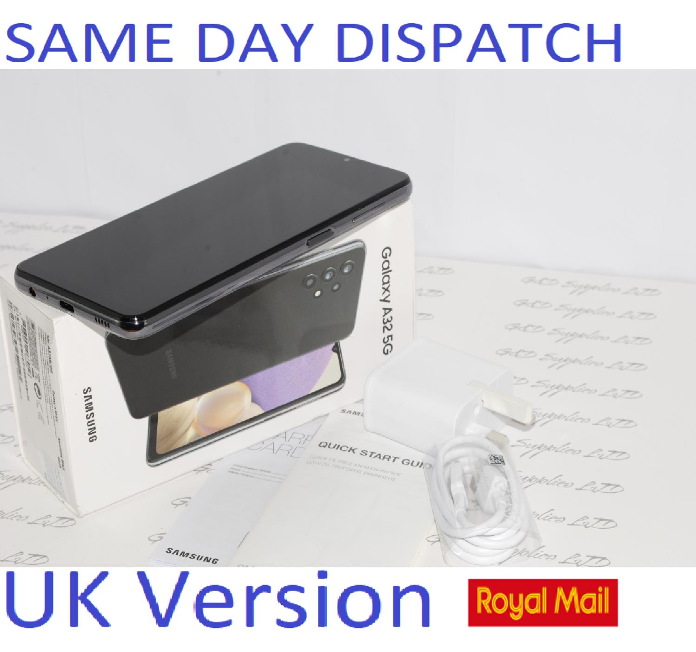 Samsung Galaxy A32 5G 64GB Dual SIM Smartphone BLACK unlocked UK Version #