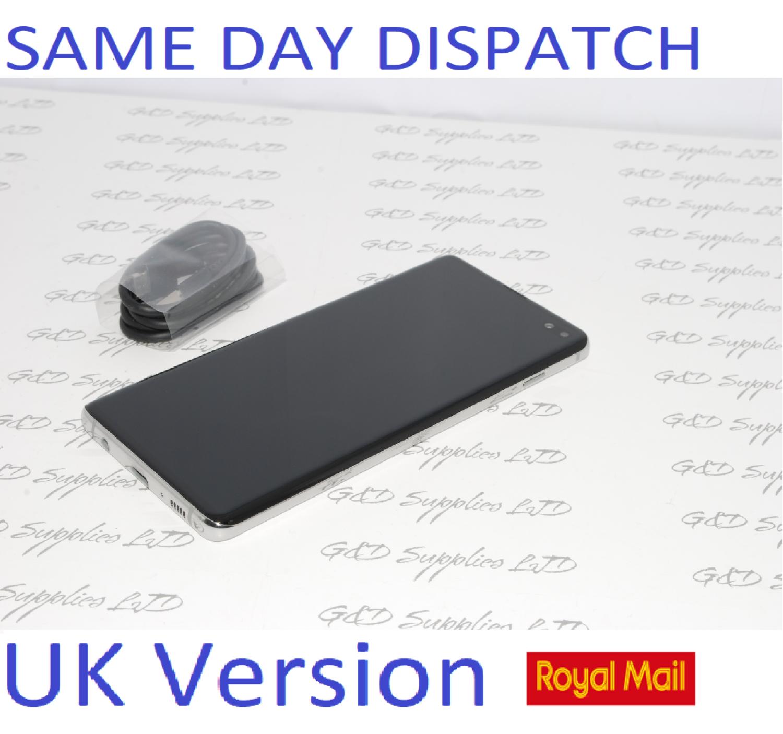 Samsung Galaxy S10 + Plus SM-G975F 128GB SIM white Free Unlocked UK Version NO BOX