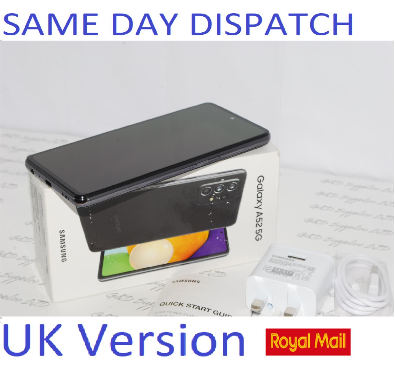 SAMSUNG GALAXY A52 5G SM-A526B/DS UNLOCKED 6GB RAM 128GB BLACK UK Version ##