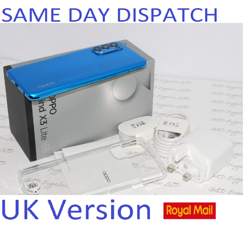 New OPPO FIND X3 LITE 5G FACTORY UNLOCKED 8GB RAM 128GB ASTRAL BLUE CPH2145 UK version #