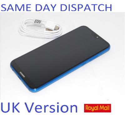 "Huawei P20 Lite BLUE 5.84"" 64GB 4G LTE Octa Core Sim Free LX1 Unlocked New condition NO BOX"