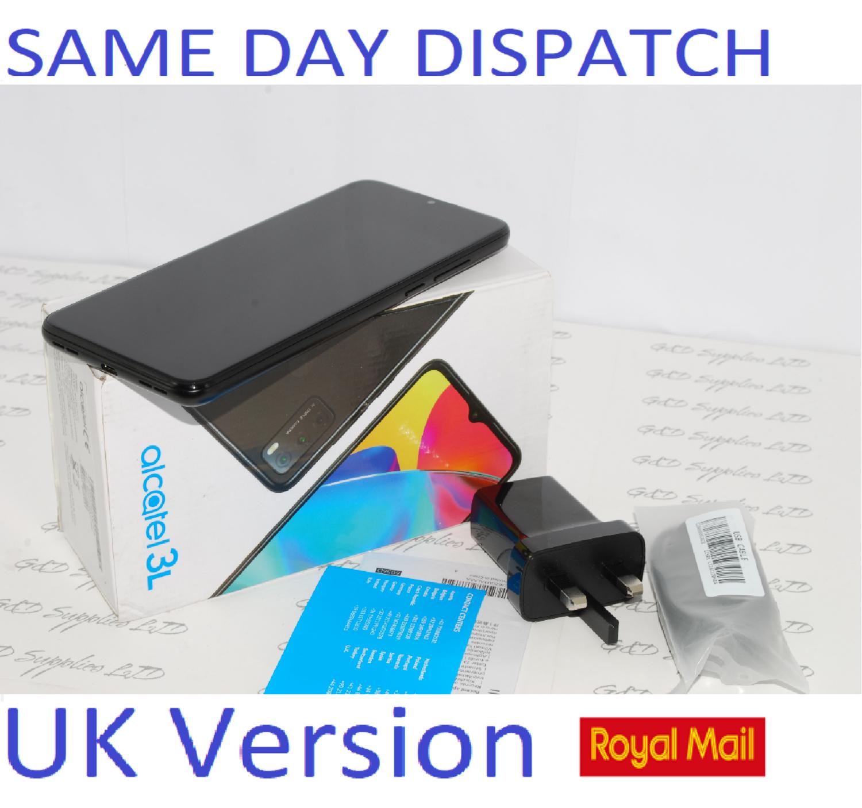 ALCATEL 3L 2021 Smart Phone 64GB, 4GB Ram NFC Black 6056H  Unlocked UK STOCK #