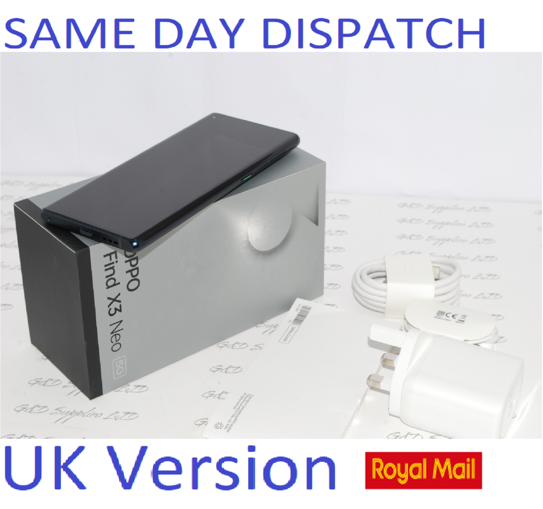 OPPO Find X3 Neo Mobile Smart Phone 256GB Black 12GB RAM Unlocked UK version #