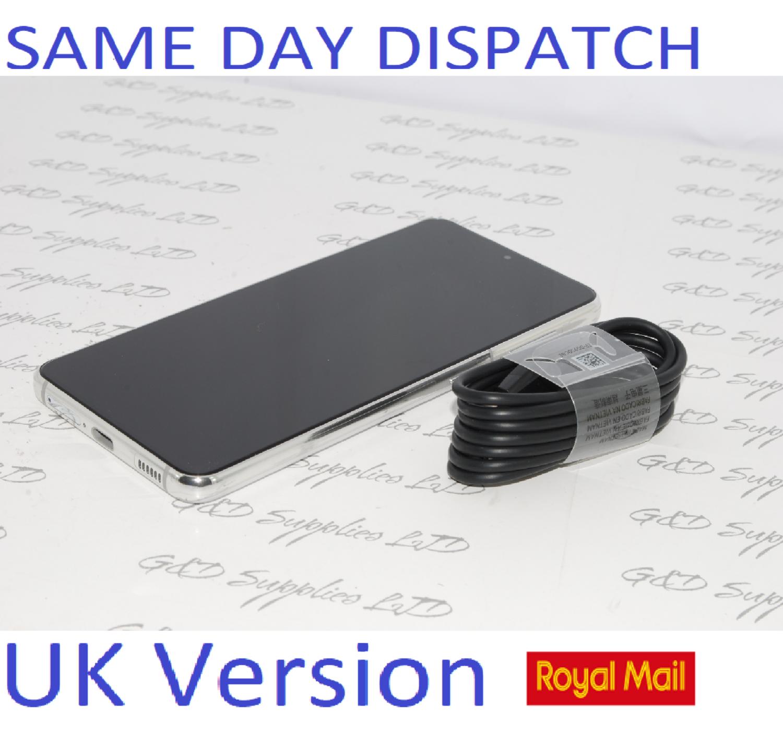 SAMSUNG S21 5G SM-G991B/DS 128GB White unlocked Dual Sim UK Version NO BOX
