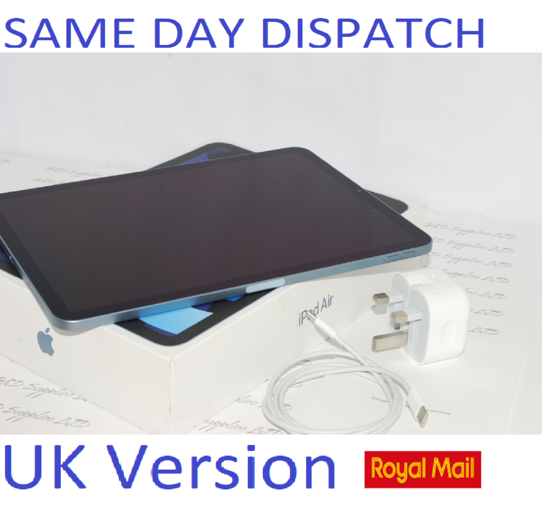"Apple iPad Air with Apple Pencil - 4th Gen. 64GB, Wi-Fi, 10.9"" MYFQ2B/A  Sky Blue UK Version #"