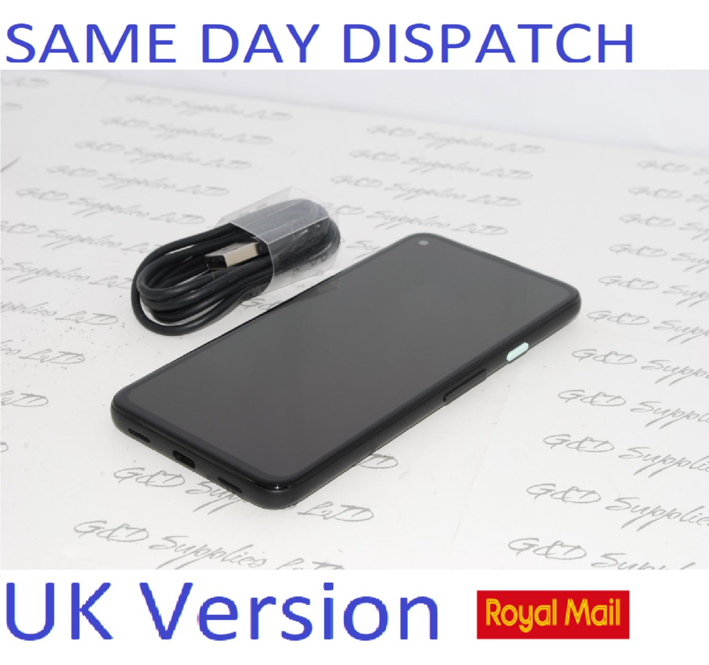 Google Pixel 4a Mobile Phone - Unlocked - 128GB Just Black  UK version NO Box