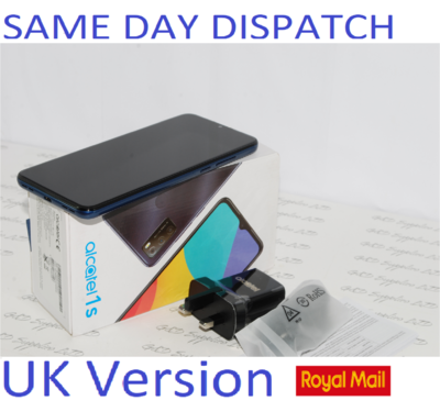 New ALCATEL 1s 2021 Smartphone 32GB, 3GB Ram NFC Blue 6025H Unlocked UK STOCK #