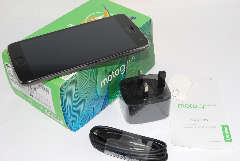"Sim-Free MOTOROLA Moto G5 Plus 32GB Gray 5.2"" IPS LCD touchscreen unlocked #"