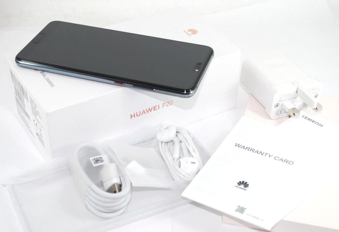 NEW Huawei P20 Blue 128GB EML-L09 UNLOCKED SIM FREE Single Sim