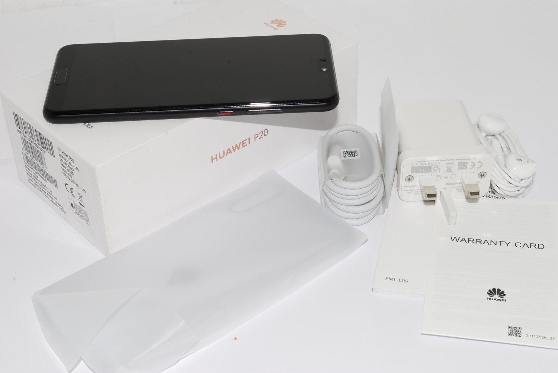 NEW Huawei P20 BLACK 128GB EML-L09 UNLOCKED SIM FREE Single Sim