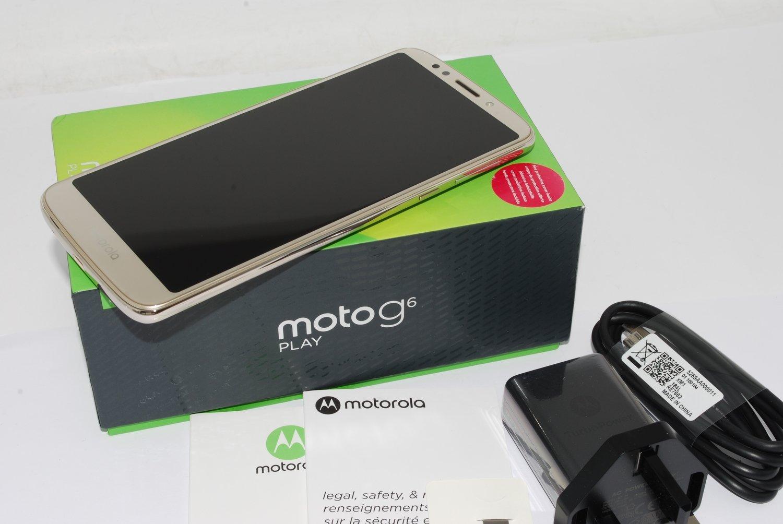 New Motorola Moto G6 Play XT1922-2 32gb Fine Gold Unlocked Smartphone Single Sim