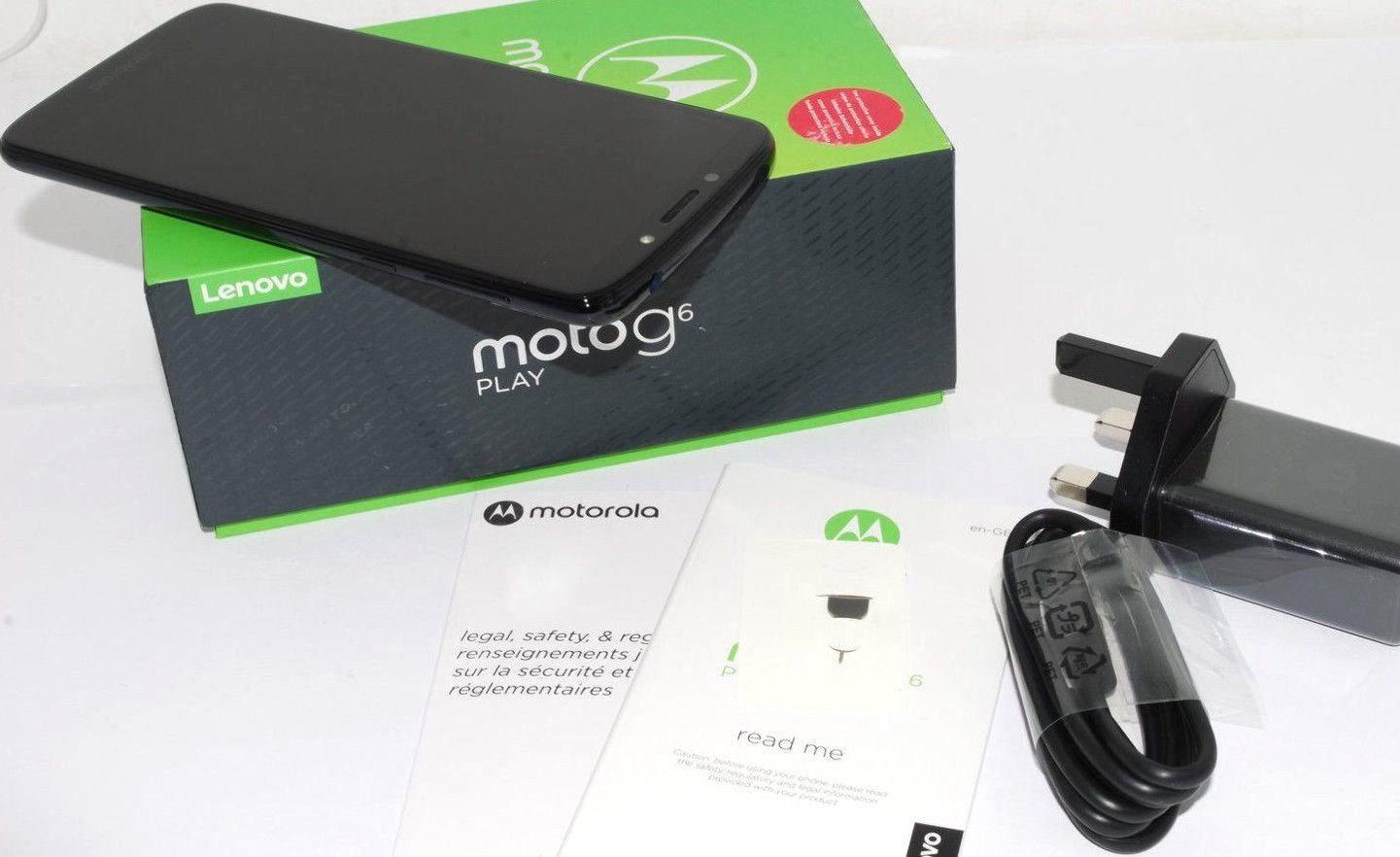 New Motorola Moto G6 Play XT1922-2 32gb Deep Indigo Unlocked Single Sim