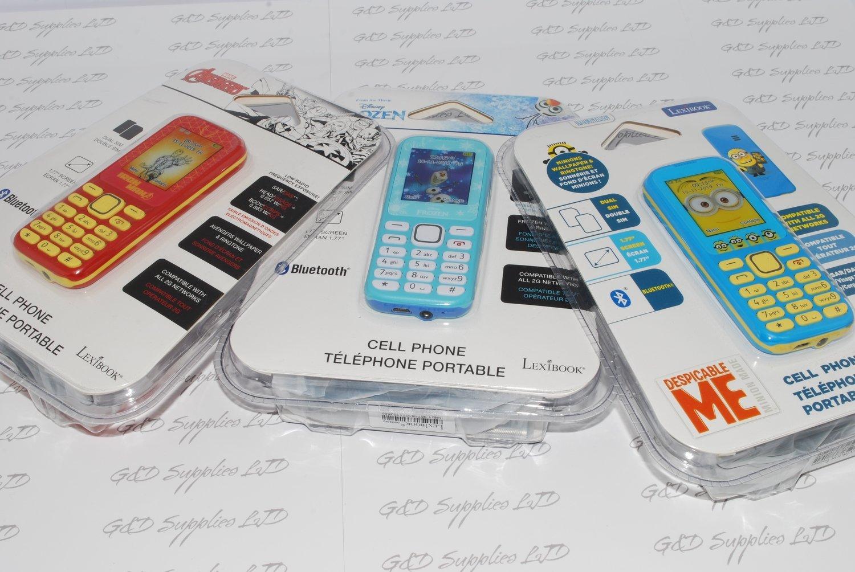 Collection of 3 kids Mobile Phones MINIONS Frozen IRON MAN Dual sim  JOB-LOT Cheap
