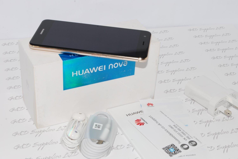 New Huawei NOVA CAN-L01 Prestige Gold 32GB 3GB RAM 12MP GPS Unlocked Smartphone