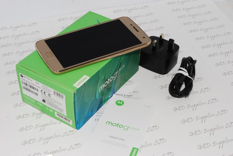 "Sim-Free MOTOROLA Moto G5 Plus 32GB GOLD 5.2"" IPS LCD touchscreen unlocked #"
