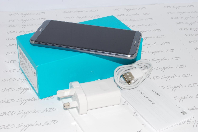 "Huawei Honor 9 Lite GREY 5.65"" 32GB Dual Sim 4G LTE Android 8.0 Sim Free UK"