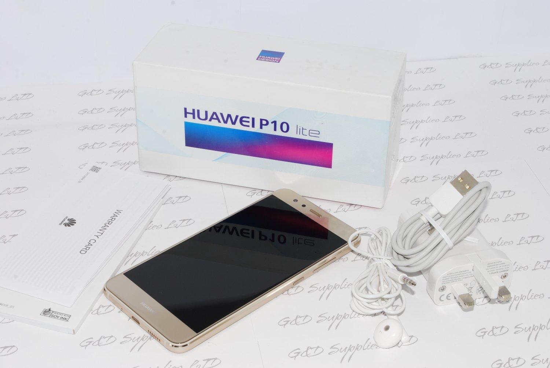 "Huawei P10 Lite Gold  5.2"" 32GB 4G LTE Octa Core Sim Free Unlocked #"
