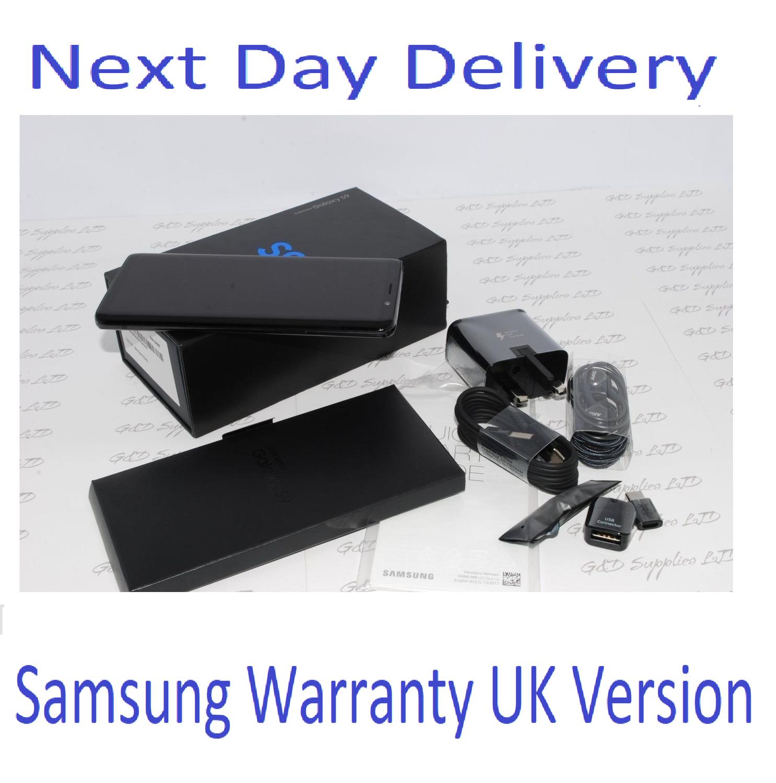 NEW Samsung Galaxy S9 black SM-G960F 64GB 4G Unlocked UK Version Single Sim