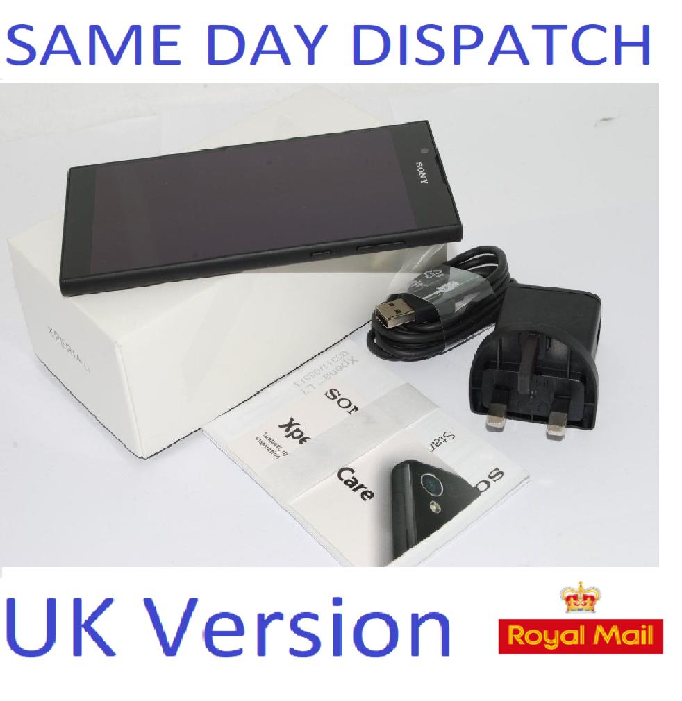 NEW SONY XPERIA L1 G3311 16GB - 13MP CAMERA  4G BLACK UNLOCKED UK STOCK