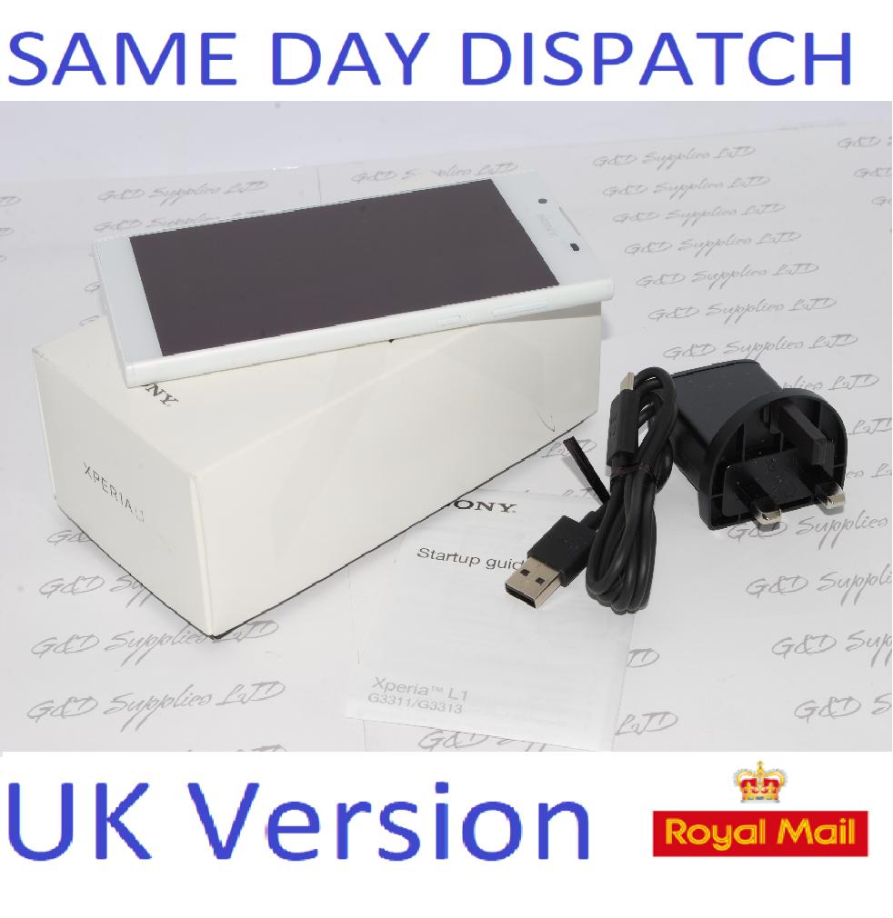 SONY XPERIA L1 G3311 16GB - 13MP CAMERA  4G WHITE UNLOCKED UK STOCK