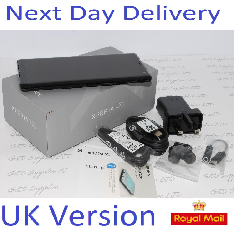 New Sony Xperia XZ3 64GB SIM Free Unlocked UK Smartphone  Single-SIM