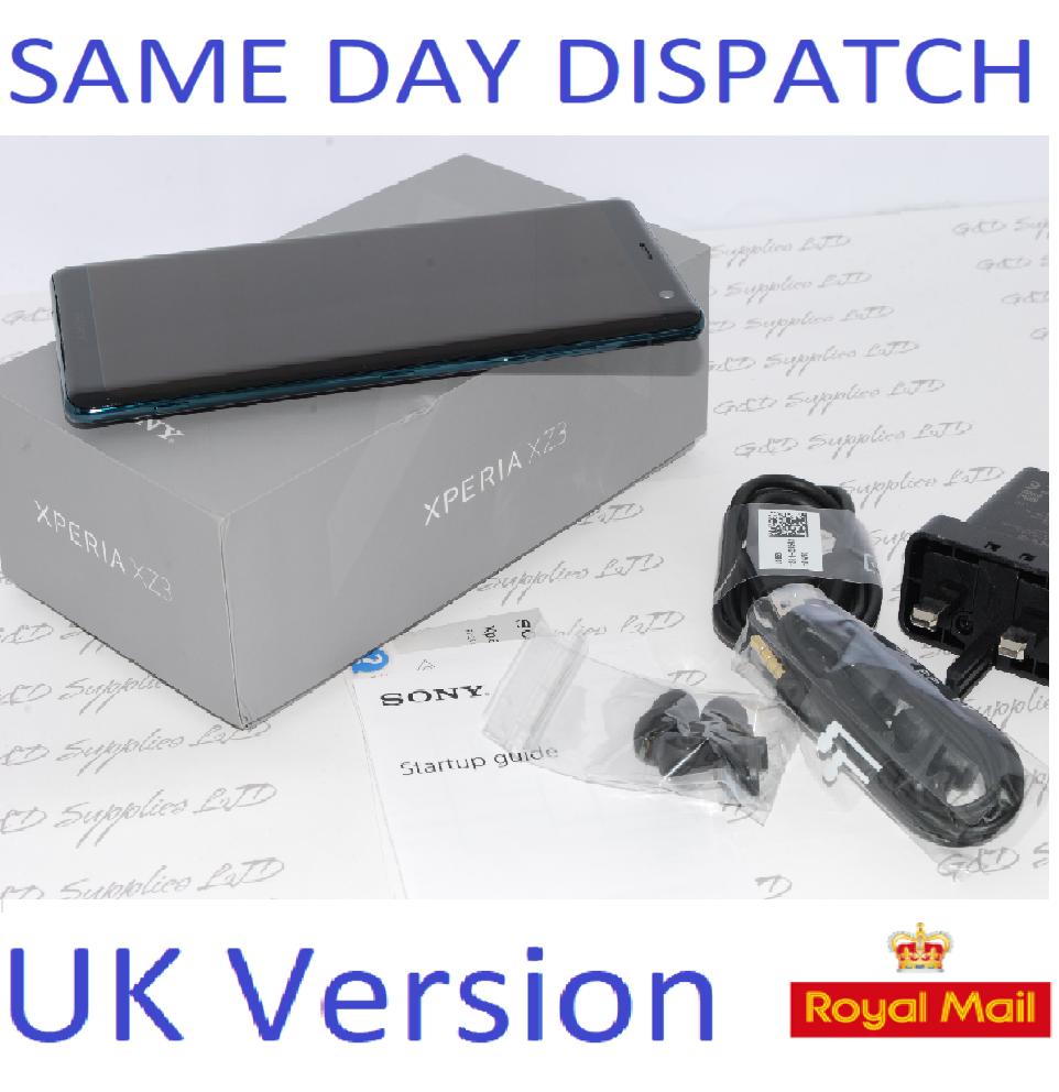 New Sony Xperia XZ3 64GB SIM Free Unlocked UK Green Single-SIM