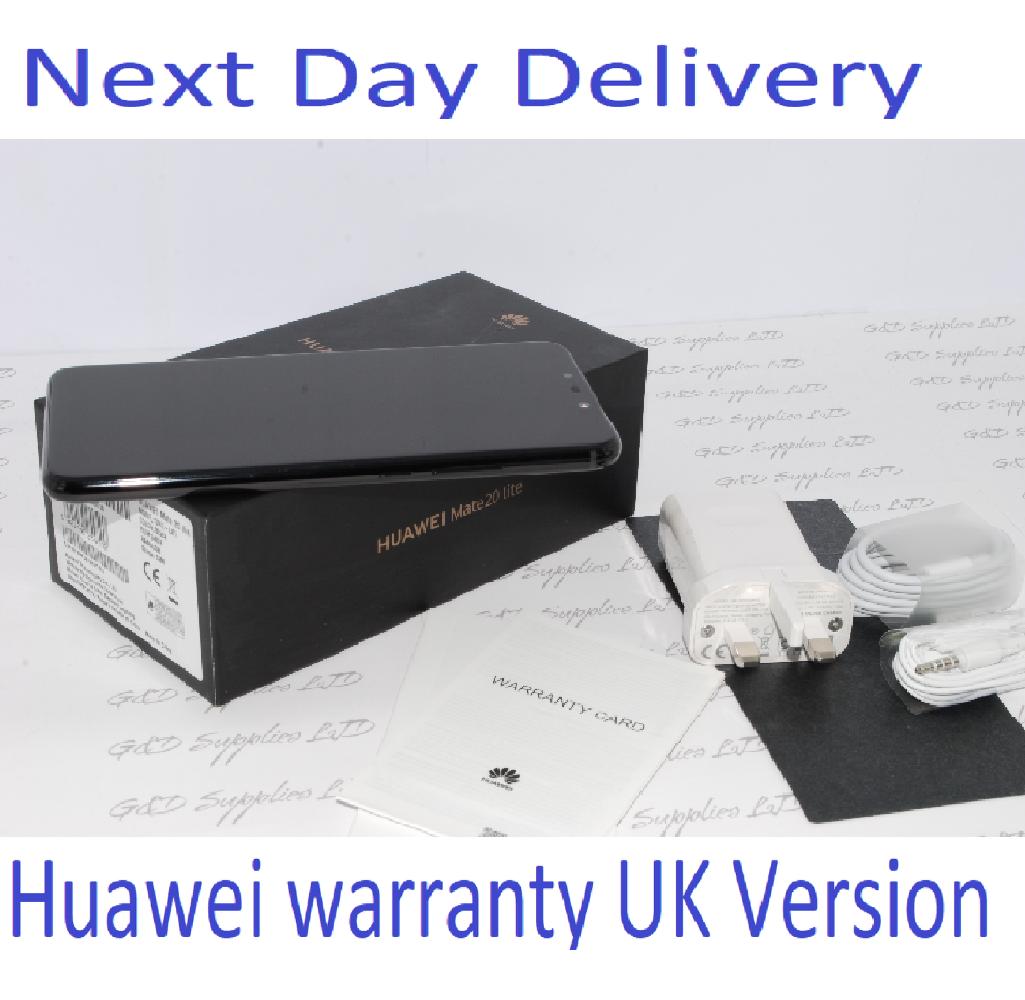 "NEW Huawei Mate 20 Lite 6.3"" 64GB  24MP Dual AI Cameras UNLOCKED NFC UK version Black"