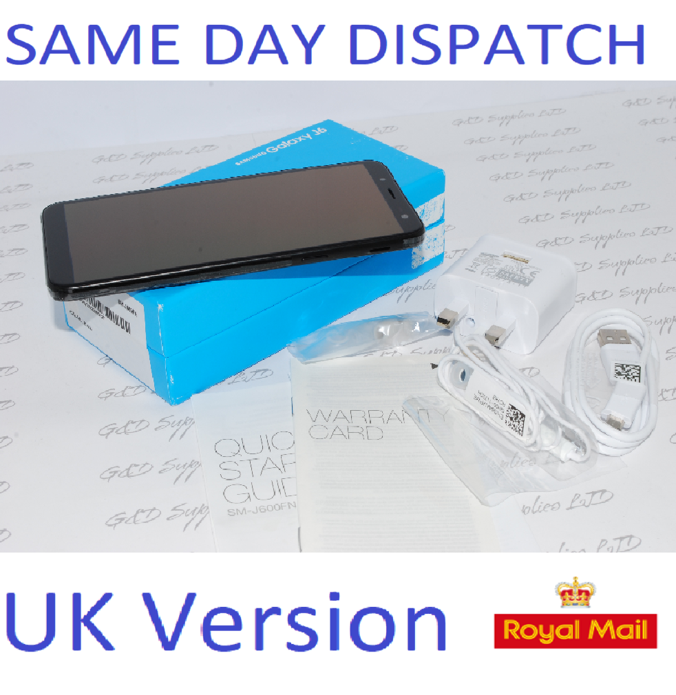 "Samsung Galaxy J6 SM-J600F 32GB 5.6"" 13MP SIM Free Black UK Version #"