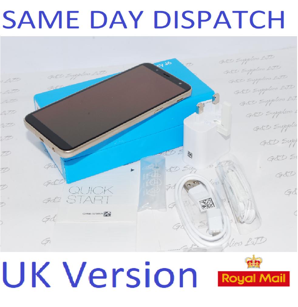 "Samsung Galaxy J6 SM-J600F 32GB 5.6"" 13MP SIM Free Gold UK Version #"