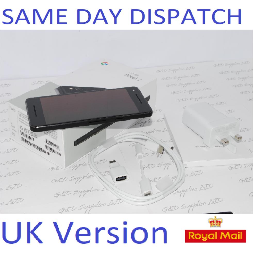"Google Pixel 2 Black Android Smartphone Unlocked 5.0"" 64GB UK STOCK #"