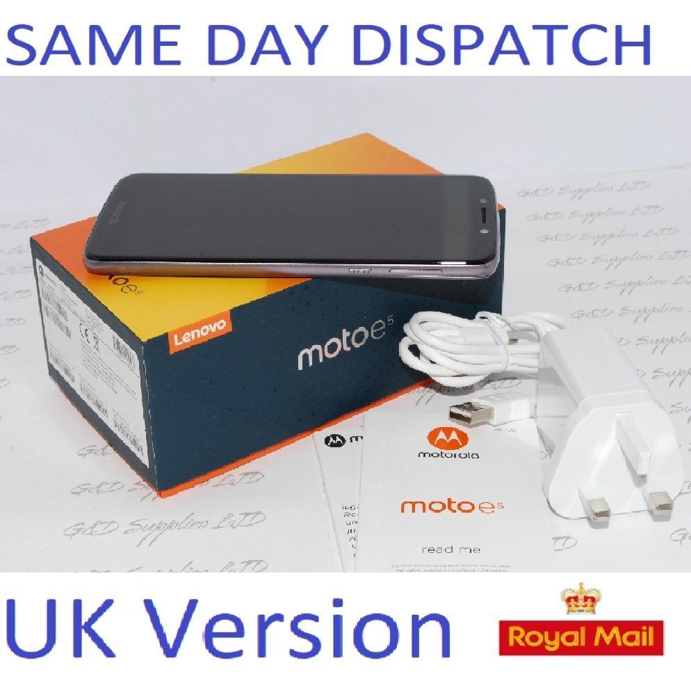 """Motorola Moto E5 Flash Grey 5.7"""" 16GB 4G Unlocked & SIM Free  UK stock #"""
