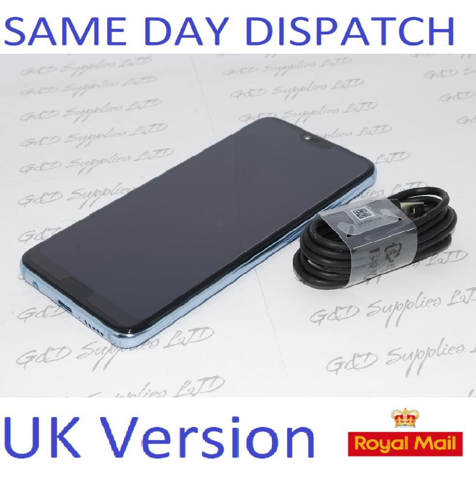 """Huawei Honor 10 Glacier Grey 5.84"""" 128GB Dual Sim 4G LTE Android 8 Sim Free UK STOCK NO BOX"""