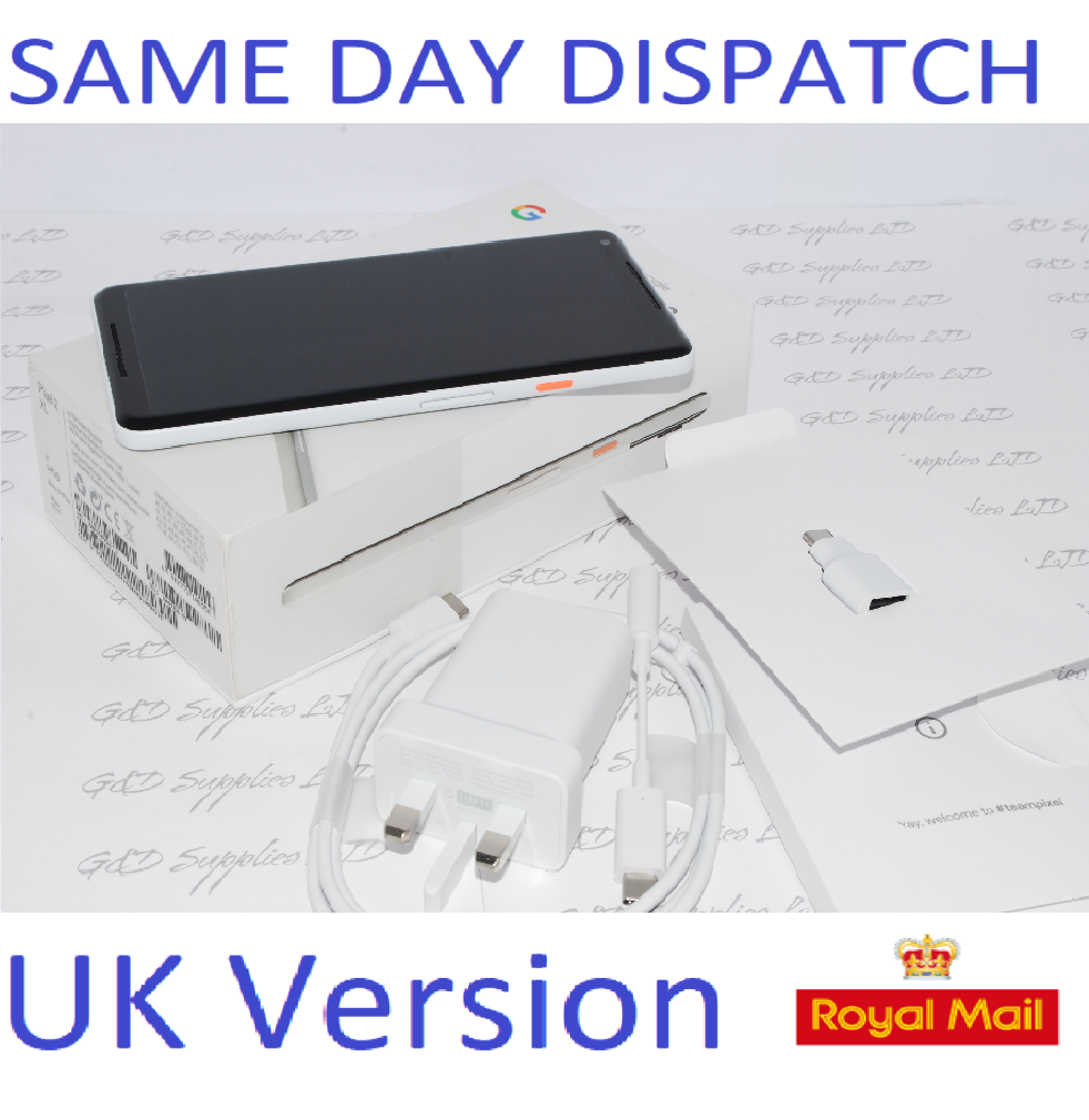 GOOGLE Pixel 2 XL 128GB white Unlocked MOBILE Phone SIM Free UK STOCK #