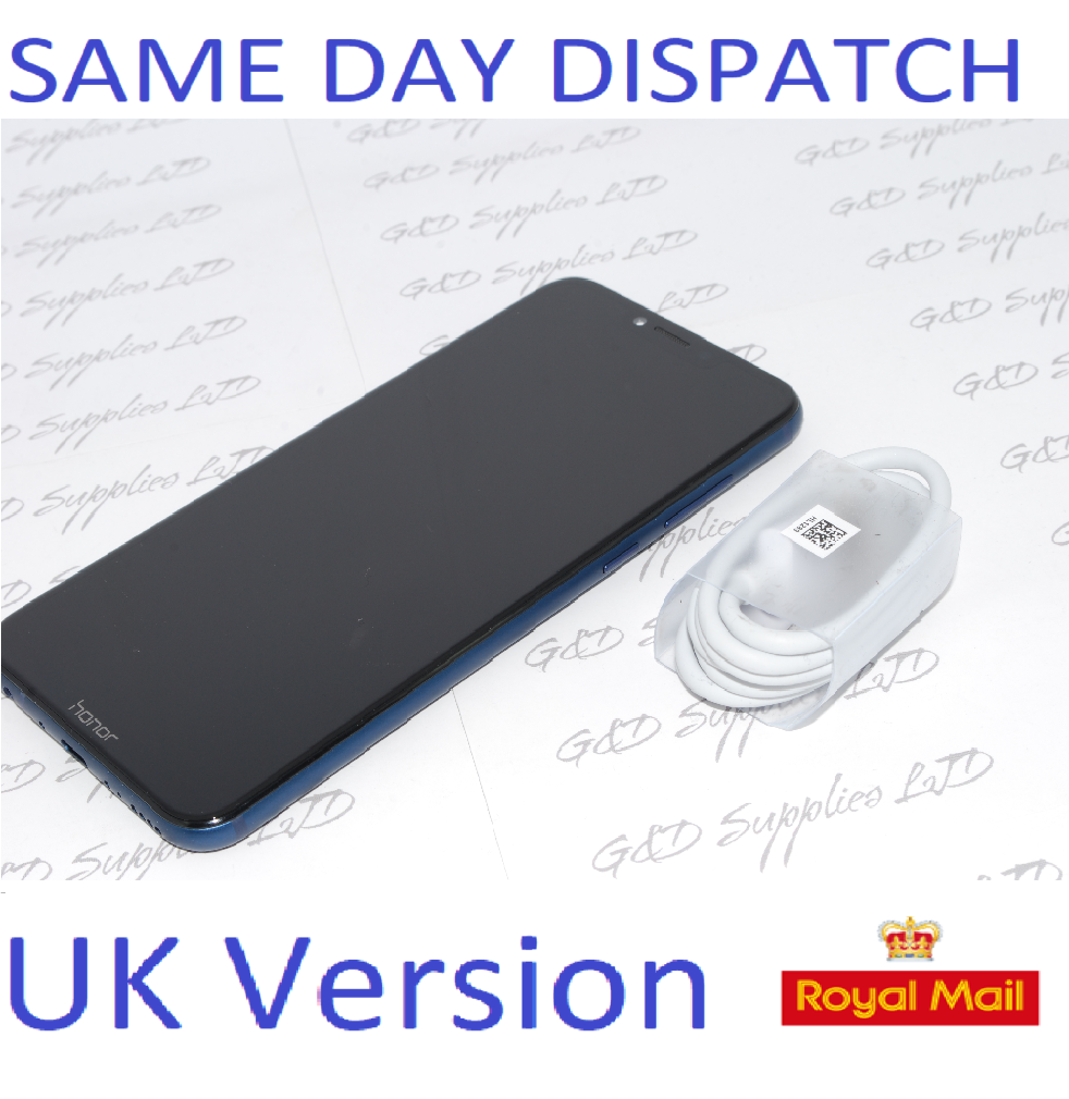 "Huawei Honor Play Navy Blue 6.3"" 64GB Dual Sim 4G LTE UK STOCK NO BOX"