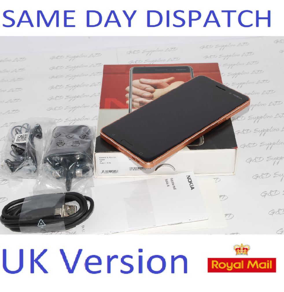 NEW Nokia 6 LTE 4G 3GB RAM 32GB  Copper Unlocked Smartphone UK stock