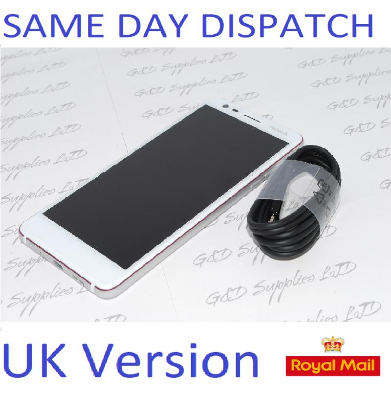 "Nokia 3.1 2018 Unlocked 4G LTE Mobile Phone, 5.2""  White 16GB UK STOCK NO BOX"