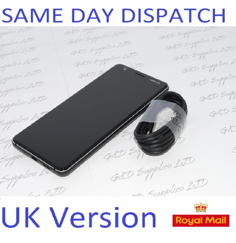"Nokia 3.1 2018 Unlocked 4G LTE Mobile Phone, 5.2""  Black 16GB UK STOCK NO BOX"