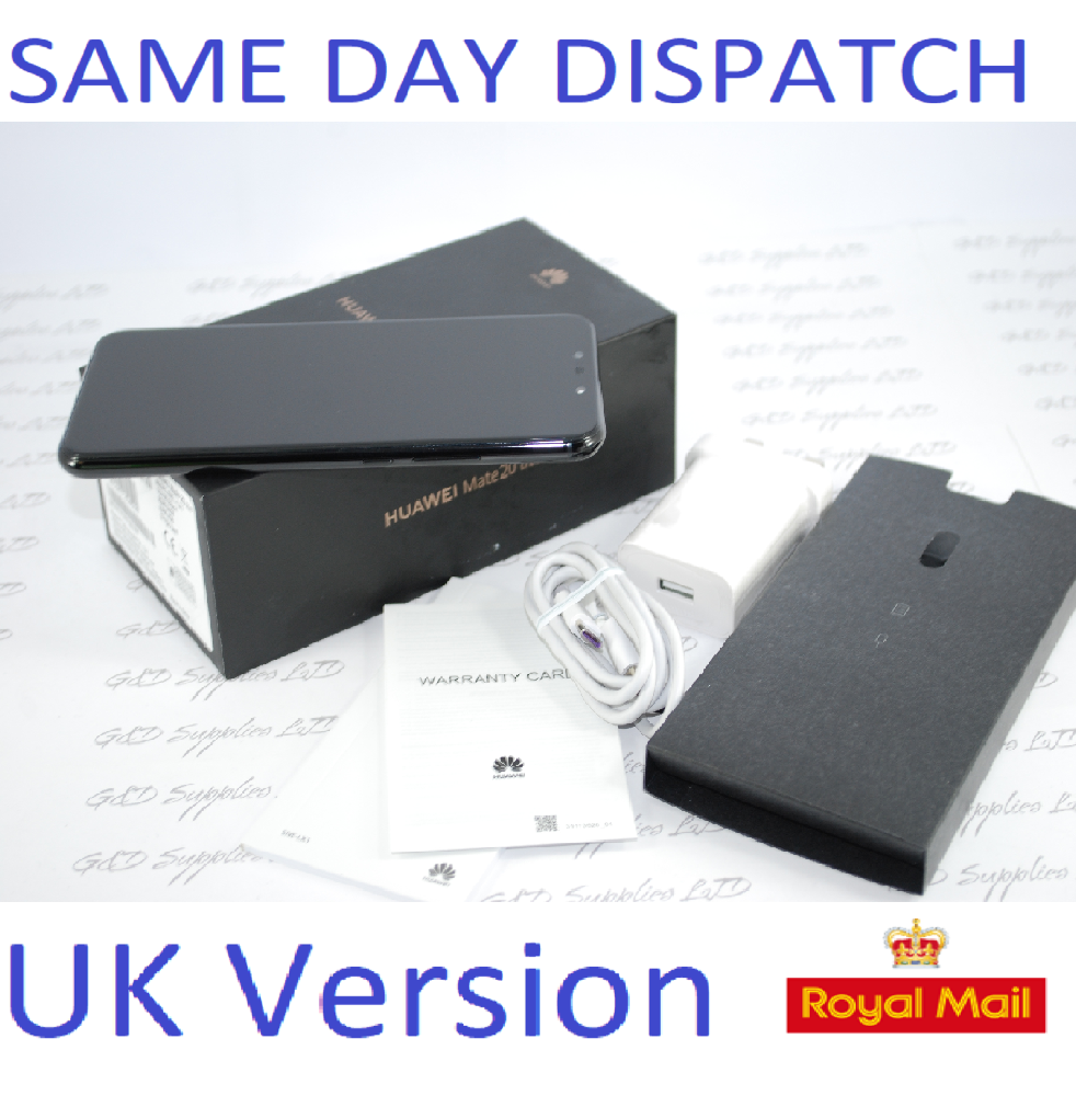 "Huawei Mate 20 Lite 6.3"" 64GB  24MP Dual AI Cameras UNLOCKED NFC UK version  Black #"