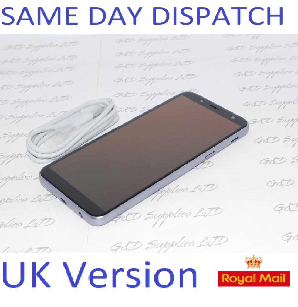 """Samsung Galaxy J6 SM-J600F 32GB 5.6"""" 13MP SIM Free Lavender UK STOCK NO BOX"""