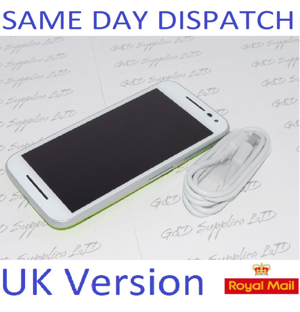 Motorola Moto G 3rd Gen XT1541 8GB White Lime Green   4G-LTE Smartphone NO BOX