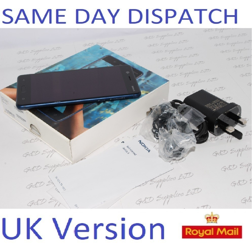 "Nokia 5 Smartphone 5.2"" 16GB 13MP Android  blue Unlocked Sim-free  UK STOCK #"