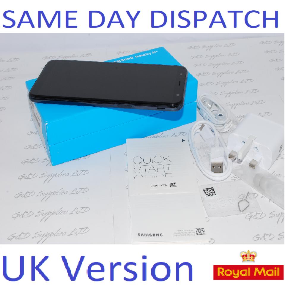 New Samsung Galaxy J6 + Plus 32GB J610F SIM Free Black UK Version