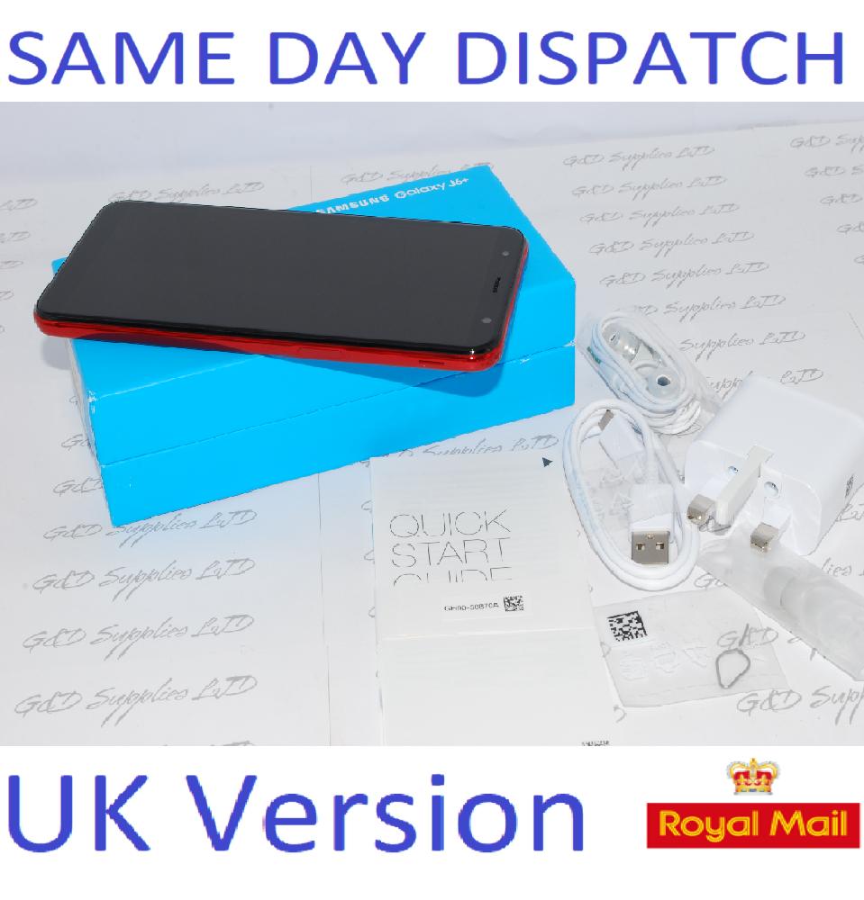 New Samsung Galaxy J6 + Plus 32GB J610F SIM Free RED UK Version