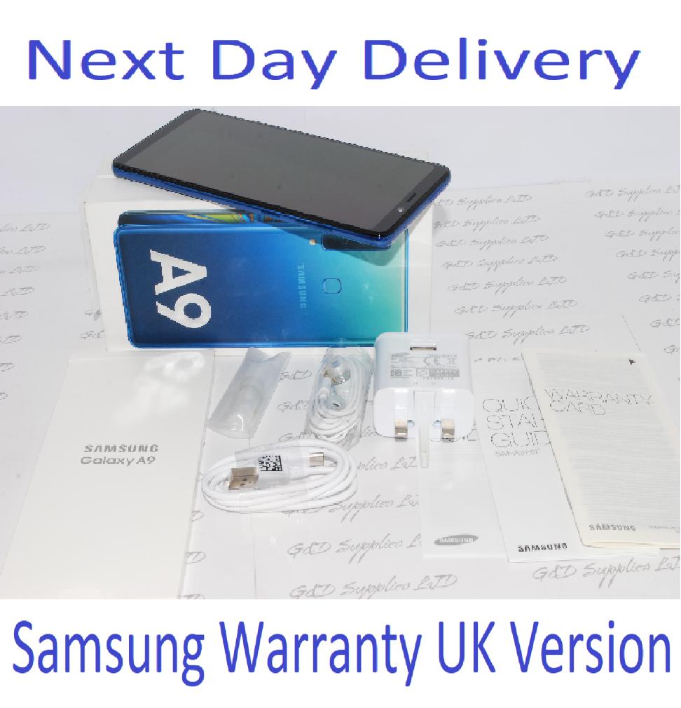 NEW Samsung Galaxy A9 (2018) SM-A920F - 6GB RAM 128GB Blue, Single Sim UNLOCKED UK Version