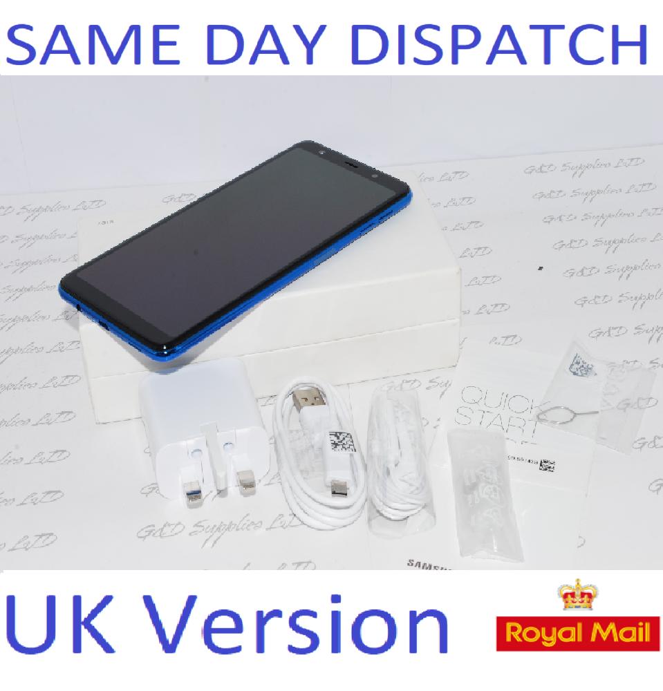 NEW SAMSUNG GALAXY A7 2018 SM-A750FN BLUE  UNLOCKED  UK Version