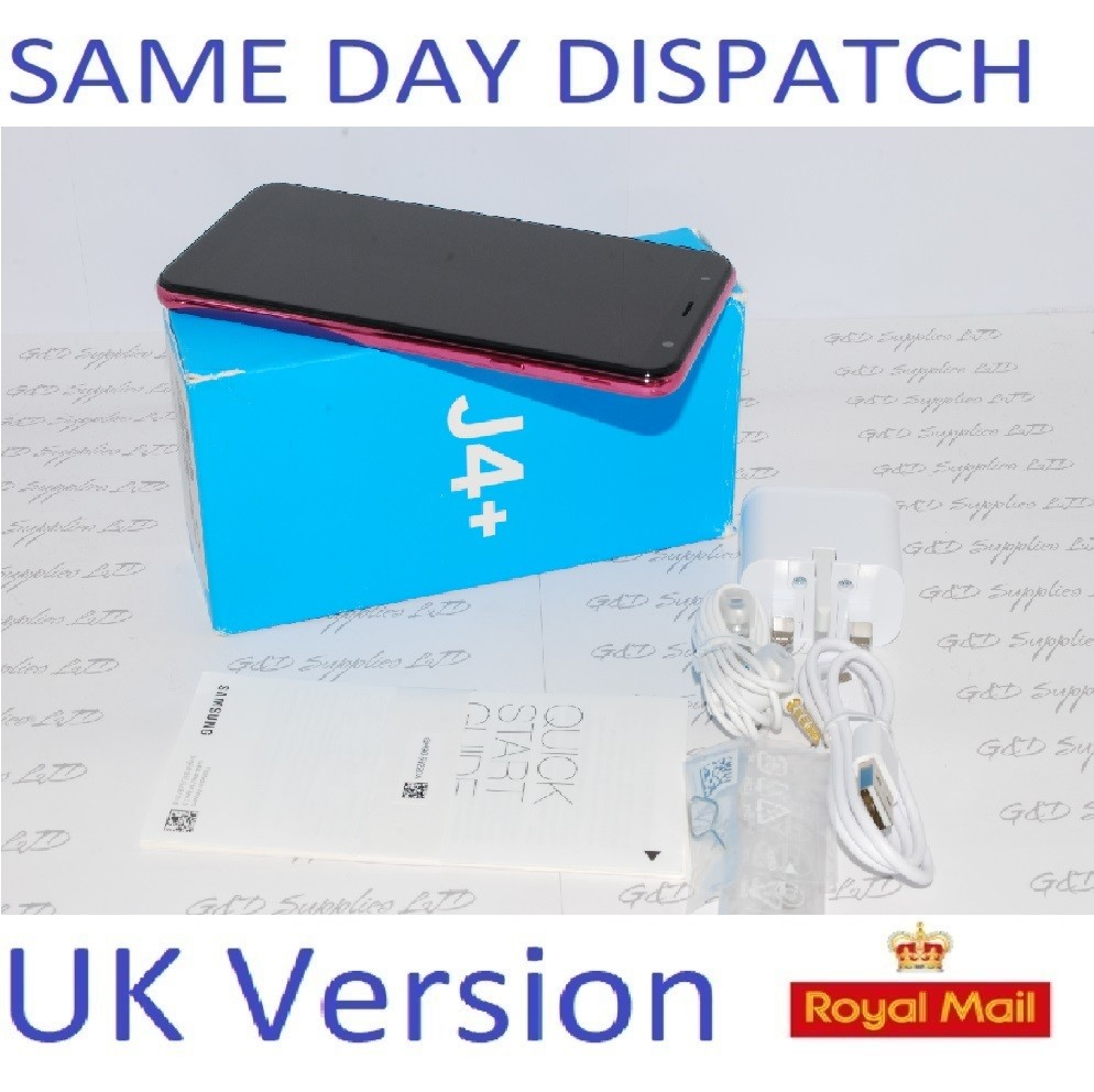 Samsung Galaxy J4 PLUS + 32GB  UNLOCKED PINK 4G UK Version single sim #